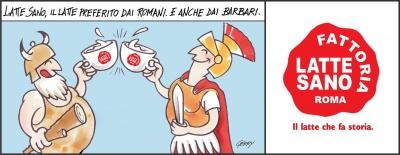 latte preferito da romani e barbari