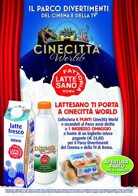 ANCHE QUEST' ANNO LATTE SANO PREMIA LA TUA VOGLIA DI DIVERTIMENTO CON CINECITTA' WORLD!!!
