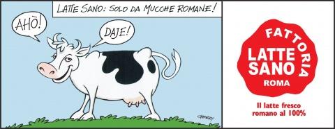Il latte fresco romano al 100%