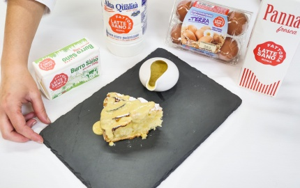 TORTA DI MELE CON CREMA INGLESE
